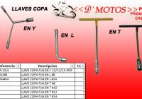 LLAVES  COPA EN: Y / L  / T